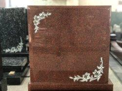 Grafzerk van het Graniet van de Grafsteen van Haobo de Indische Veelkleurige Rode met het Snijden van Bloemen