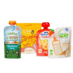Sans BPA Purre refermable réutilisables Les aliments pour bébés de l'eau gelée de lait liquide Spouted potable pochette à fermeture éclair