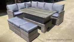 Stock para pátio exterior Jardim móveis de vime sofá de vime Set 6 PCS