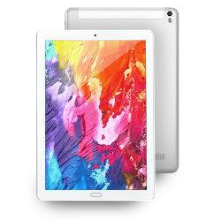 Yzy de Computer van de Tablet van 10.1 Duim, 4G+64GB WiFi Dubbele SIM Androïde IPS HD van de Tablet 1280X800 de octa-Kern van de Vertoning (Zilveren) Laptop van PC van de Tablet van de Bewerker 1.3GHz Mini