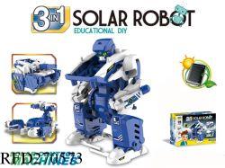 Potência educacional DIY 3 em 1 Brinquedo Robô Solar