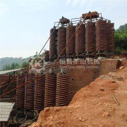 Indonesia 50 T/H de la planta de lavado de mineral de cromo con expulsor de espiral y mesa vibradora