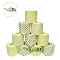 100% de la pulpa de bambú Rollo de papel higiénico blanco suave pañuelo de papel