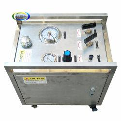 أنبوب صمام خرطوم أسطوانة محمولة تعمل بالهواء 10-60000psi هيدروليكي هيدرولي هيدرولي هيدرولي معدات مضخة اختبار الضغط