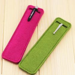Oficina de fieltro rojo, verde y hermoso de la Escuela de moda bolsa con cremallera lápiz bolígrafo Bolso Caso