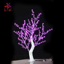 El chino de seda personalizada Peach Tree árbol artificial de la boda de árbol de la tabla