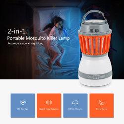 La luz de camping al aire libre electrónica resistente al agua IP67 de mosquitos insecto asesino, la luz de viaje USB Lámpara Mosquito
