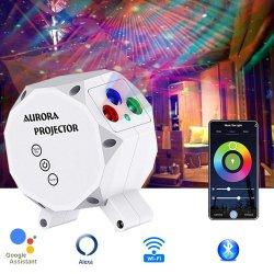 أحدث تقنية WiFi الذكية LED ليزر Aurora Galaxy Star جهاز عرض ليلي خفيف لحفلة الأطفال Dsico مع Alexa Google الصفحة الرئيسية