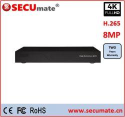 36CH 4K Soutien NVR 4CH Caméra IP de reconnaissance de visage et le visage de la recherche Poe 8CH