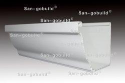 Anti-UV de l'eau de pluie en PVC de gouttière de produits de drainage de toit long tube en plastique de matériaux de construction durable