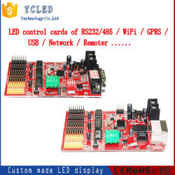LED 이동 메시지 디스플레이 신호 컨트롤러와 LAN 포트, 네트워크 연결 LED 디스플레이
