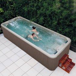 Marco de contenedor Jardín Balboa Swim SPA acrílico interminables por encima del suelo Jacuzzi Spa al aire libre Piscina