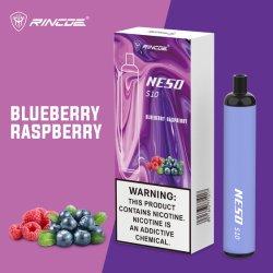 Les sels de la nicotine fumer Rincoe Neso personnalisé de produits jetables S10 E cigarette de la Chine