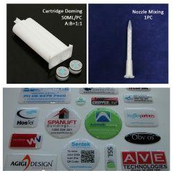 Cartuccia UV dell'autoadesivo del contrassegno di resistenza che copre con una cupola la resina Cina del poliuretano