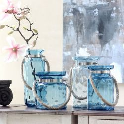 Decoratieve doorzichtige glazen vaas voor Bloem 25cm glazen vaas