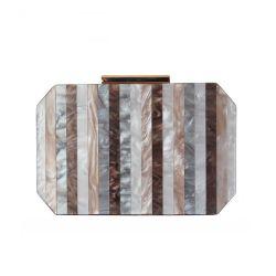 Nova estrutura de metal da junção da embreagem de acrílico Noite Senhoras Bag