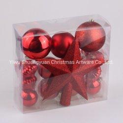 [هيغقوليتي] عادة بلاستيك زاويّة [إكسمس] داخليّة حلية شجرة زخرفة عيد ميلاد المسيح كرة