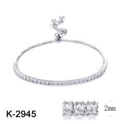 Braccialetto d'argento all'ingrosso di tennis del diamante della CZ dei monili di modo per le donne