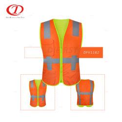 폴리에스테르 교통 도로 보안 고가시성 반사 안전 베스트 Dfv1162