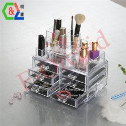De acryl Doos van de Doos van de Opslag van de Organisator van de Make-up van de Kubus Kosmetische Acryl Kosmetische verkoopt Rek van de Inrichtingen van de Vertoning van de Opslag het Acryl Kosmetische in het klein