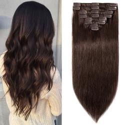 卸し売り倍によって引かれる非常に厚い10Aバージン人間のヨーロッパのブラウンは人間の毛髪Extenisonを切る