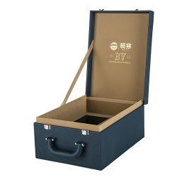Contenitore di imballaggio di cuoio squisito del regalo del vino dell'unità di elaborazione di alta qualità