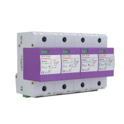 La classe B nous 10/350Iimp 25KA 8/20 nous Imax 75KA TNS 4p du circuit du système d'alimentation enfichable SPD Parafoudre contre les surtensions