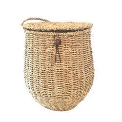 Renel hierba artesanales Colgantes / cesta tejida de almacenamiento de frutas Canasta de colgantes