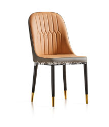 Venda por grosso casa moderna Furmiture pernas de metal PU Couro Cadeiras de jantar