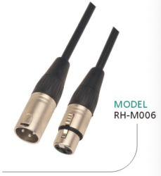 Audiokabel Mikrofonkabel Verlängerung 3pin Kanone XLR Stecker auf Buchse, 24/22 AWG, GA/Guage, OFC, CCA, symmetrisch Studio