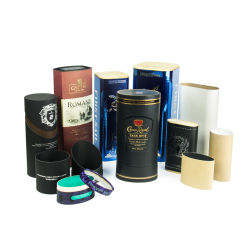 고급 종이 상자 실린더 튜브 마분지 포장 상자(뚜껑 포함