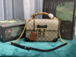 G Luxus Designer Replik G Supreme Leder Monogram Lady Schulter Tasche