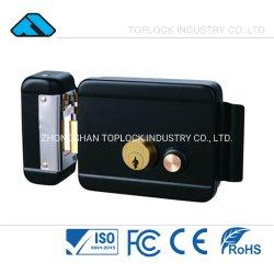접근 제한 문 시스템 (TL1073-DL-BL-L)를 위한 금관 악기 두 배 실린더를 가진 까만 전기 변죽 자물쇠