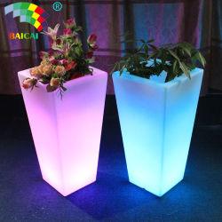 Gartenmöbel Kunststoff Blumentopf LED-Licht Blumentopf LED Garten Pflanze Topf Solar