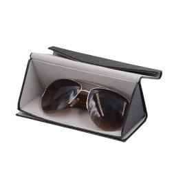 Occhiali pieghevoli Triangle in pelle PU con logo personalizzato Occhiali da sole imballaggio Occhiali da vista Case