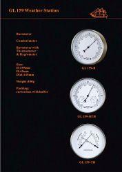 Antique البحري ساعة راديو 159مم مقاومة للماء من الفولاذ المقاوم للصدأ