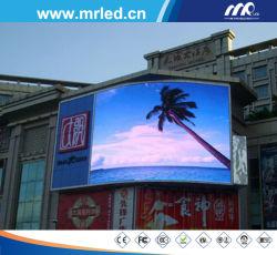 En el exterior de la junta de la pantalla LED curvada