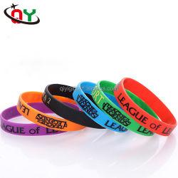Promoción de la fabricación de Guangdong Logotipo personalizado Pulsera pulsera de silicona de PVC blando