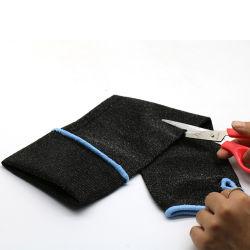 Niveau 5 manches noir résistant aux coupures mordre la preuve de la protection des manchons de garde de bras de travail avec le pouce le trou de l'industrie du verre de cuisine