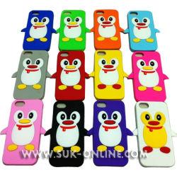 Couvercle en silicone de protection de style Pingouin Étui pour iPhone 5 (TR5S012)