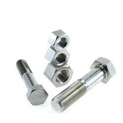 Fixation DIN 931 933 SS 304 en acier inoxydable 316 Un2-70 Un4-80 B8 B8m boulon à tête hexagonale à tête hexagonale