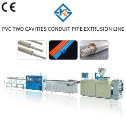 Deux cavités Tuyau PVC Extrusion plastique de ligne de conduite de machines ligne Extursion