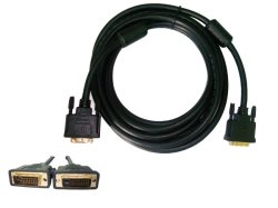Mann 24+1 zum männlichen DVI Kabel