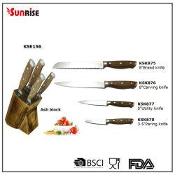 مجموعة أدوات المطبخ من 6 قطع مقبص خشبي مزدوج المطروق مطبخ سكين مع مجموعة (KSE156)