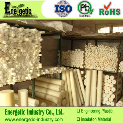 Bege natural PA6+ fibra de vidro Rod, Barra de nylon, Blocos de nylon, Nylon Blocos de plástico, Haste de nylon, Barra de nylon, Folha de PA, Mc tirante de nylon