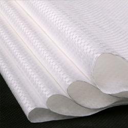白いカラーPPによって編まれる袋
