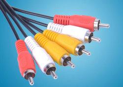 Precio barato 3RCA macho los cables de Audio y Video