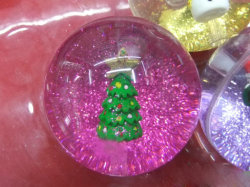 Hot Sale Fancy Crystal Toy boule avec liquide et de paillettes