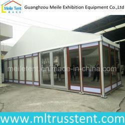 10x24m armazón de aluminio de textura de madera personalizado Tienda de vidrio