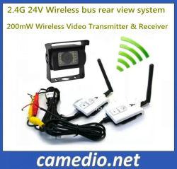2.4G 24V 200м видео беспроводной передатчик - вид сзади&приемник для шины/погрузчика